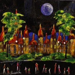 Moonlit Village Chirs Bell